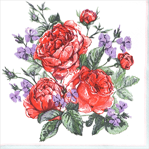 냅킨아트 SLOG044401 English Painted Roses 냅킨20매 33x33cm 0629