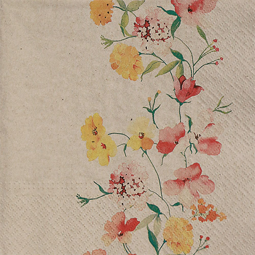냅킨아트 SDLE120102 We care delicate flowers 냅킨20매 33x33cm 2095