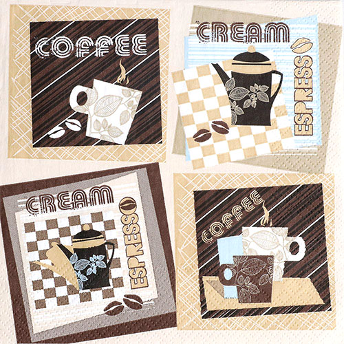 냅킨아트 SDOG015401 Graphic Coffee Squares 냅킨20매 33x33cm 2021