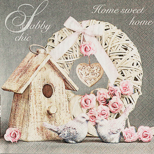 냅킨아트SLOG042401 Shabby Chic with Birdhouse 냅킨20매 33x33cm 2070